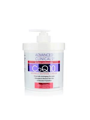 Advanced Clinicals CoQ10 Wrinkle Defense Cream, 16oz