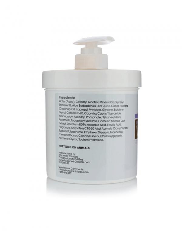 Advanced Clinicals Vitamin C Advanced Brightening Cream, 16oz