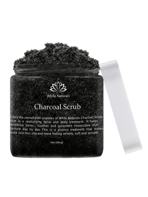 Activated Charcoal Scrub By White Naturals, 10oz