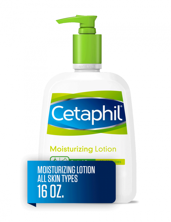 Cetaphil Moisturizing Lotion for All Skin Types, Fragrance-Free, 16oz