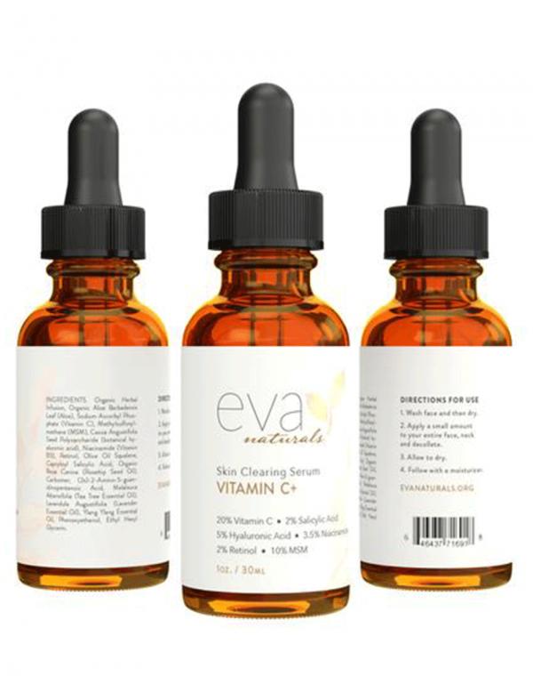 Eva Naturals Vitamin C Skin Clearing Serum, 1oz