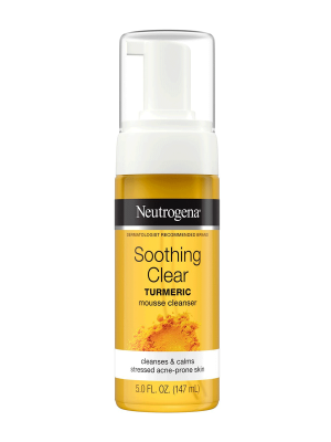 Neutrogena Soothing Clear Turmeric Mousse Cleanser, 5.0oz