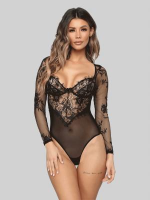 Fashion Nova Beautiful Love Lace Teddy Bodysuit