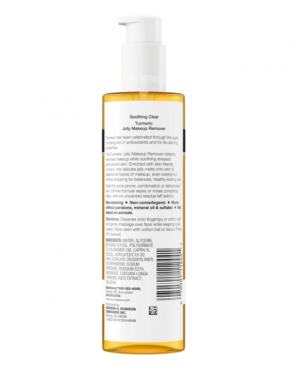 Neutrogena Soothing Clear Tumeric Jelly Make-up Remover, 5oz