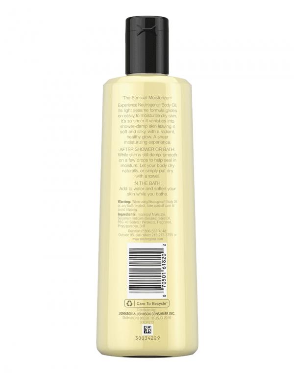 Neutrogena Moisturizing Body Oil, Light Sesame Formula, 8.5oz