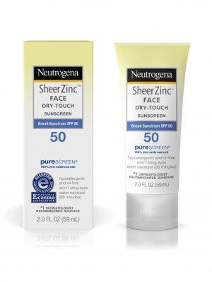Netrogena Sheer Zinc Face Dry-Touch Sunscreen
