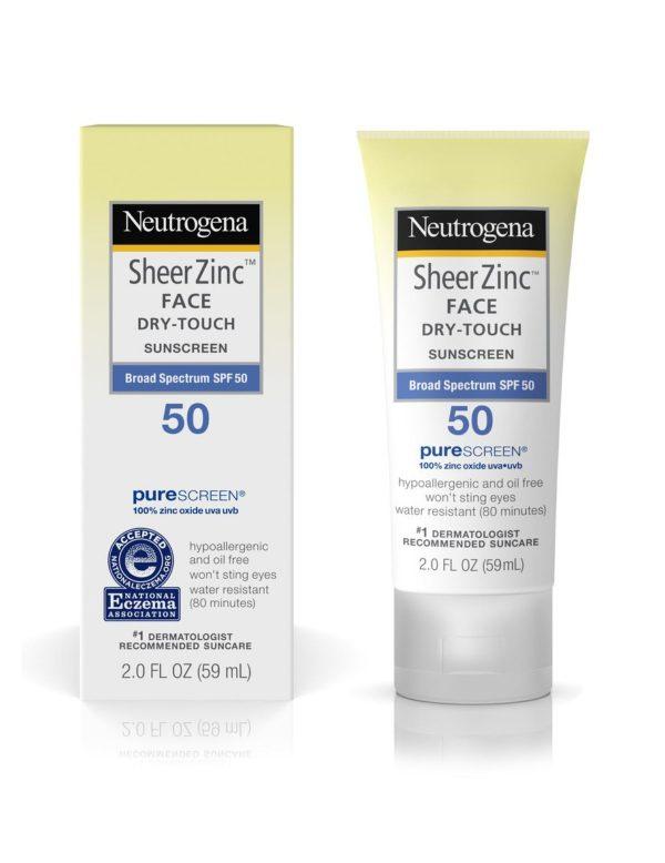 Neutrogena Sheer Zinc Face Dry-Touch Sunscreen Spectrum SPF 50