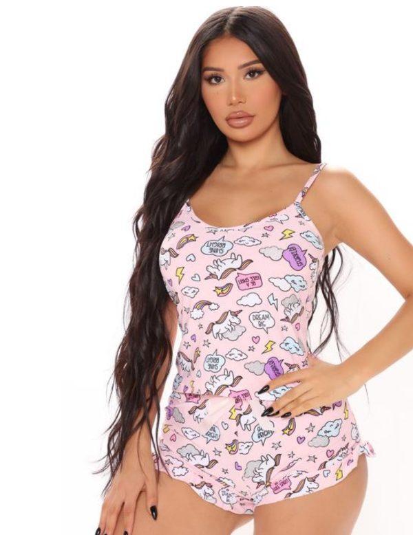 Fashion Nova Miss Unicorn PJ Short Set